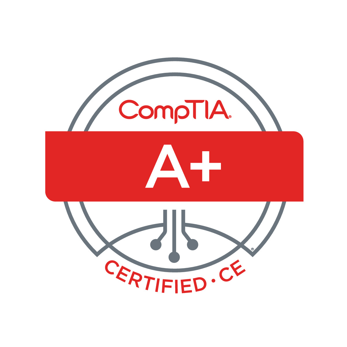Official CompTIA A+ Certified Logo